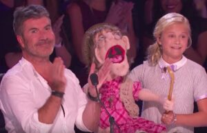 "Simon Cowell and Darci Lynne Farmer on ""America's Got Talent"""