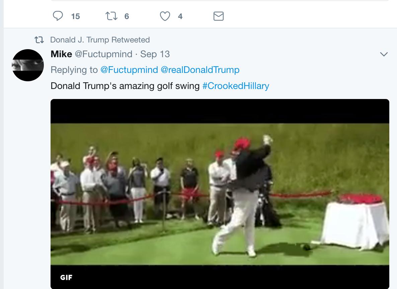 trump meme hillary golf