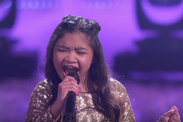 "Angelica Hale at the ""America's Got Talent"" Season 12 finale"