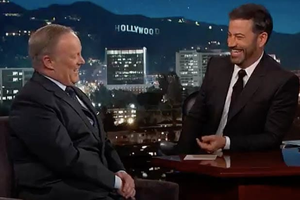 Jimmy Kimmel Tries to Get Sean Spicer to Dog on Trump