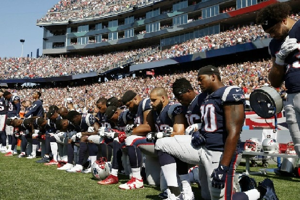 Trump hits NFL: Ratings 'are way down except before game starts'
