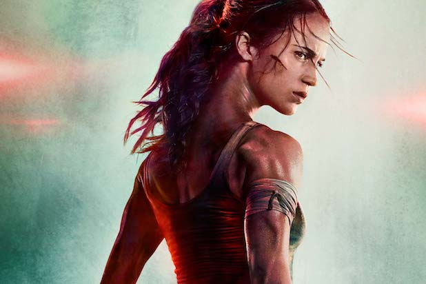 The first Tomb Raider poster/teaser is here and Alicia Vikander looks fierce