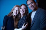Women Walks Ahead Jessica Chasten, Michael Greyeyes and director Susanna White