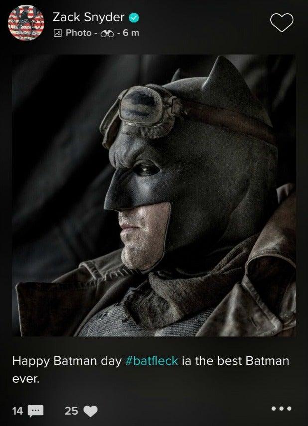 Zack Snyder Vero Batman Ben Affleck