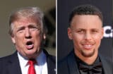 donald trump stephen curry