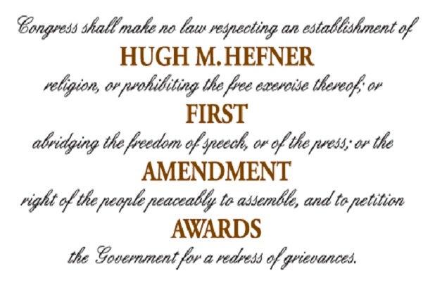 hugh m hefner first amendment awards