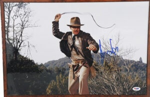 Indiana Jones bullwhip portrait auction