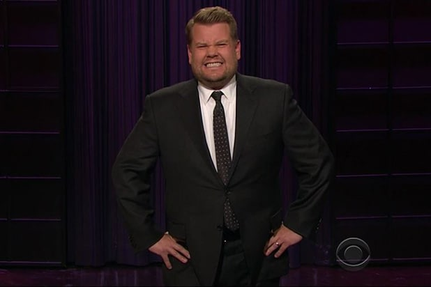 James Corden Sean Spicer reaction