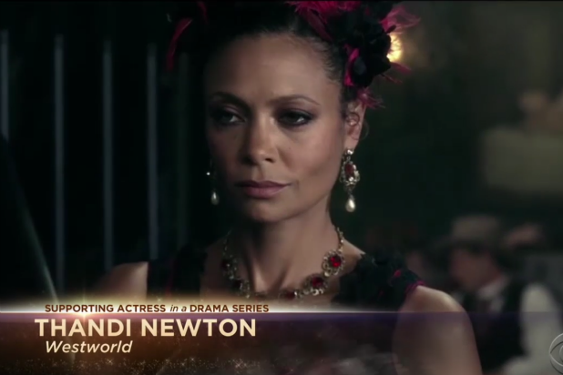 Thandie Newton Emmys spelled wrong