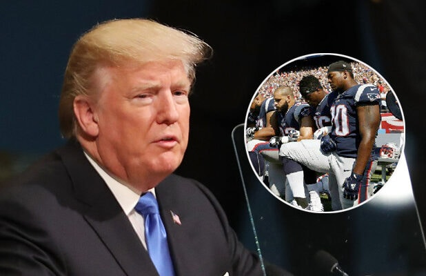donald trump nfl take a knee
