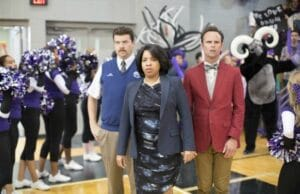 "Danny McBride, Kimberly Hebert Gregory and Walton Goggins in ""Vice Prinicipals"""