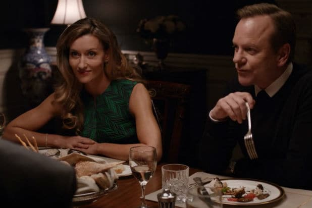 "Natascha McElhone and Kiefer Sutherland on ""Designated Survivor"""