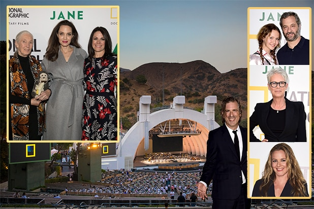 "National Geographic super-sized the premiere of Brett Morgen's Jane Goodall documentary ""Jane"" for a seated dinner and screening accompanied by a live orchestra score. The film arrives in theatres on October 20. (Photos via National Geographic)"