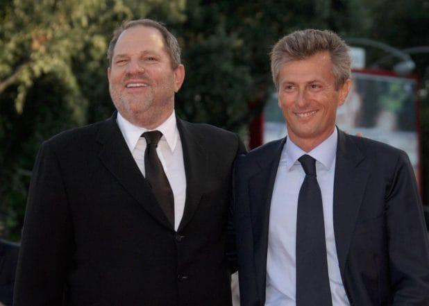Harvey Weinstein and Fabrizio Lombardo Venice Film FEstival Michael Clayton Premiere