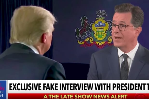 Colbert and Trump on 'The Late Show'