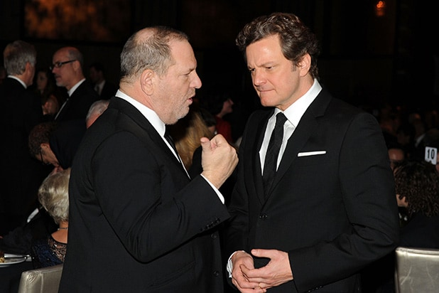 Colin Firth Harvey Weinstein
