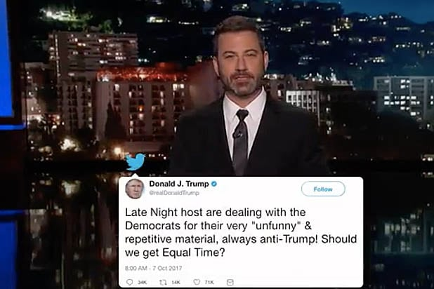 4b61cde76a6 Jimmy Kimmel Dishes on His Twitter Beef With Donald Trump Jr About Harvey  Weinstein (Video)