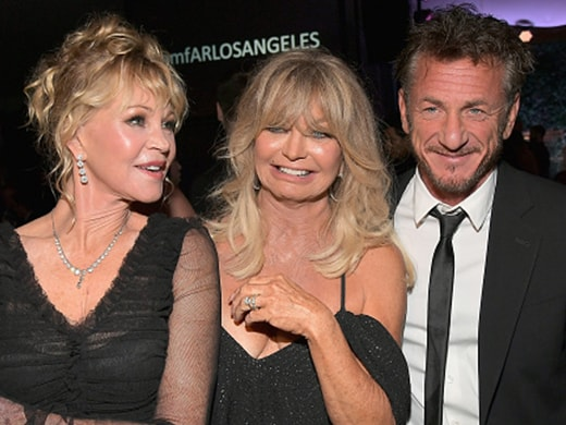 Melanie Griffith, Goldie Hawn, and Sean Penn (Charley Gallay/Getty Images)
