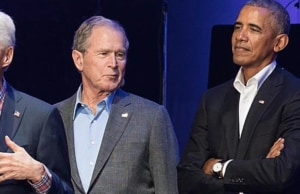 Bush and Obama at One America Concert