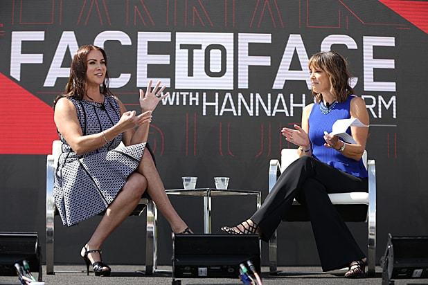 Stephanie McMahon and Hannah Storm