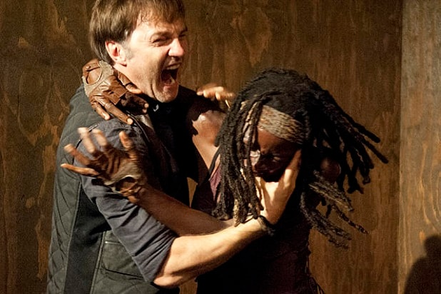 the walking dead key events michonne attacks governor season 3