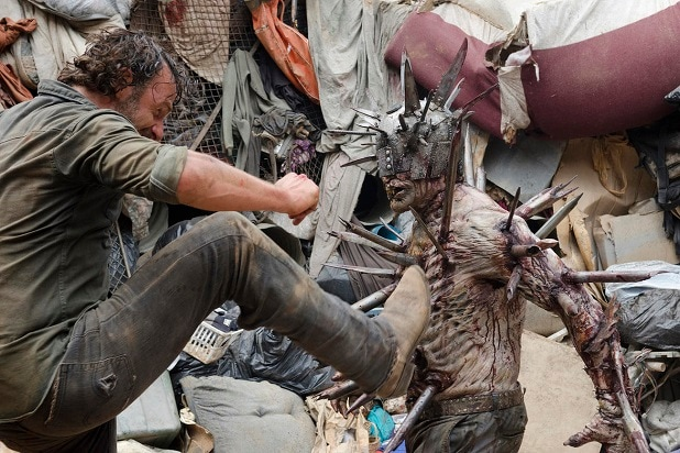 the walking dead key events rick discovers the scavengers season 7