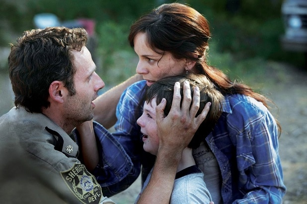 the walking dead key events rick lori carl season 1