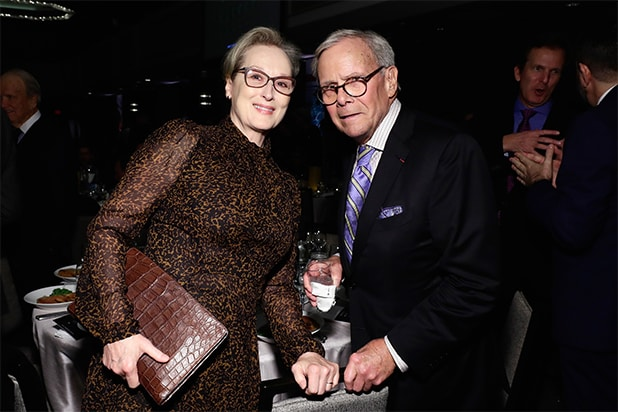 Awards Season 2018 Party Report - _0000_POST - Meryl Streep, Tom Brokaw