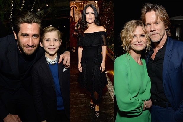 Jake Gyllenhaal, Salma Hayek, Kevin Bacon Party at First Golden Globes Bash (Photos)