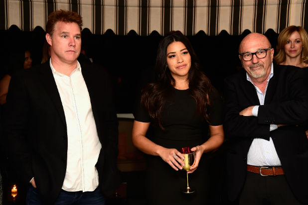 David Guillod with client Gina Rodriguez
