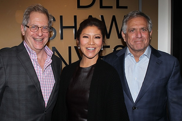 Jon Moonves, Julie Chen, Les MoonvesJon Moonves, Julie Chen, Les Moonves