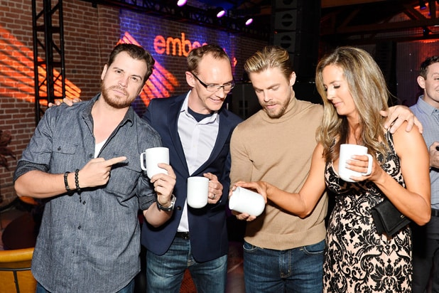 Dave Osokow, Clay Alexander, Derek Hough and Holland Alexander at Ember Launch