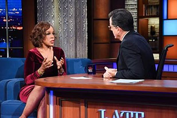 Gayle King Says She 'Came This Close to Canceling' Colbert Appearance After Charlie Rose Allegations