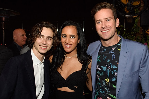 Golden Globes Kickoff 2018 - _0003_Timothe%u0301e Chalamet, Simone Garcia Johnson and Armie Hammer - HFPA Photographer