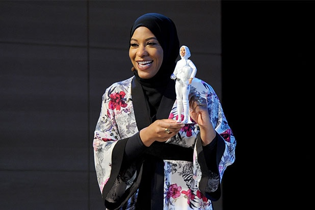 Barbie makes doll of hijab-wearing Olympian Ibtihaj Muhammad