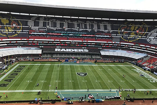 Patriots Raiders field