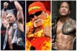 "WWE legends ""Stone Cold"" Steve Austin, Hulk Hogan, and The Rock"
