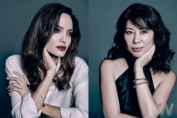 Loung Ung & Angelina Jolie, OscarWrap Foreign Language