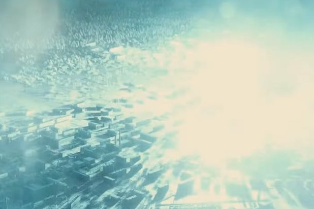 justice league trailer big blue explosion