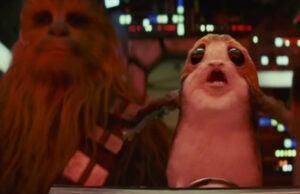 porg chewbacca star wars the last jedi
