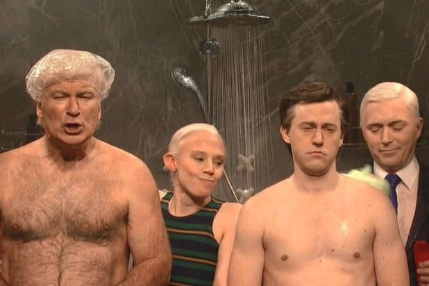 snl saturday night live alec baldwin donald trump jeff sessions kate mckinnon putin paul manafort shower