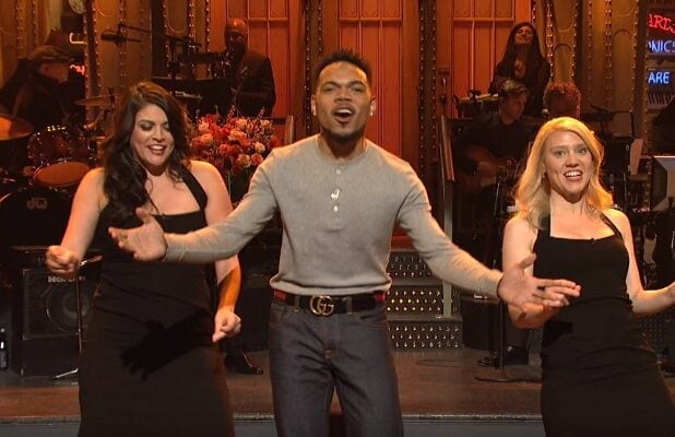 snl saturday night live chance the rapper thanksgiving time song kate mckinnon cecily strong