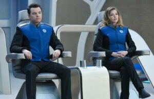 "Seth MacFarlane and Adrianne Palicki on ""The Orville"""