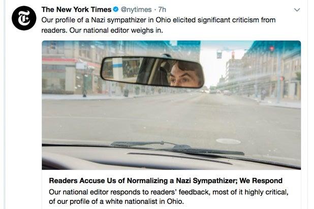 ny times neo-nazi