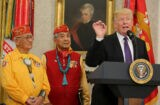 trump native american code breaker wwii pocahontas