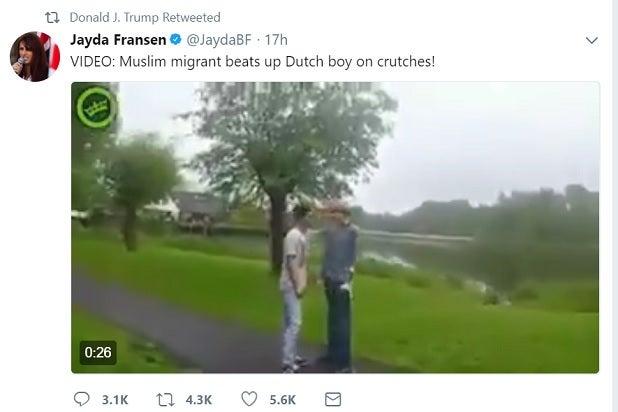 trump retweets britain first