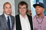 Matt Lauer, Garrison Keillor and Russell Simmons