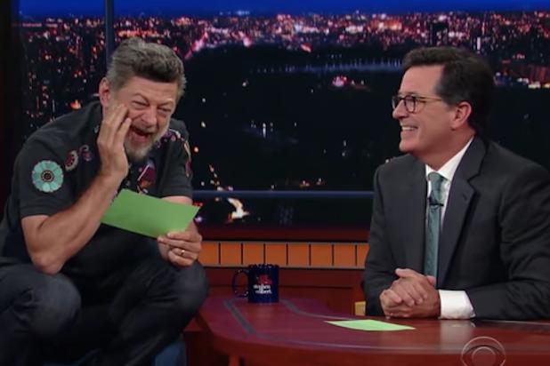 Andy Serkis Stephen Colbert