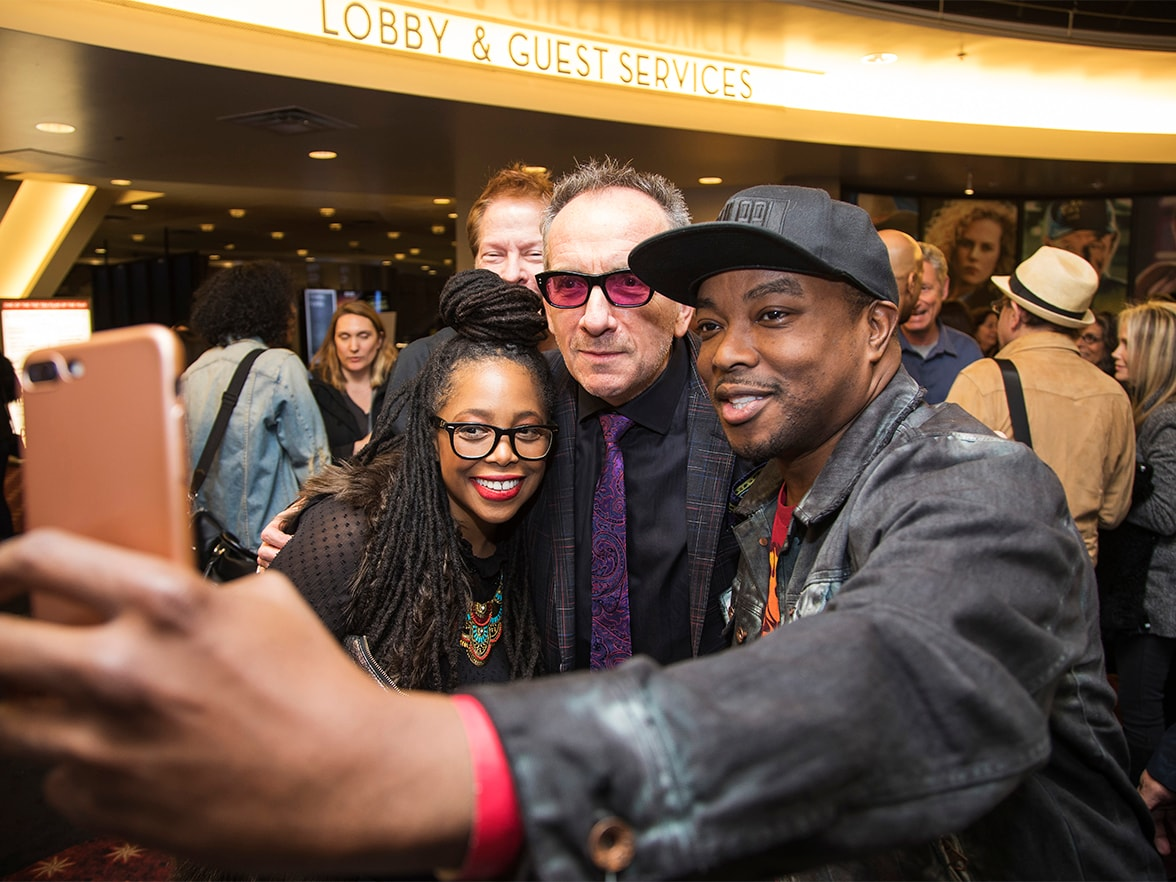 Best Original Song Contender Panel Elvis Costello and attendees selfie