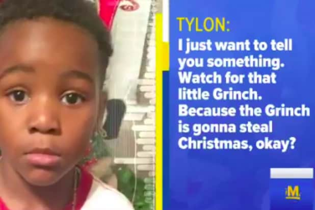 'GMA': Grinch kid